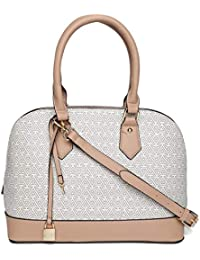 6e73467e141 Aldo Aderracia Pink-Off White Printed Handbag for Women