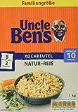 Uncle Ben's Natur-Reis 10-Minuten Kochbeutel, 3er Pack (3x 1kg)