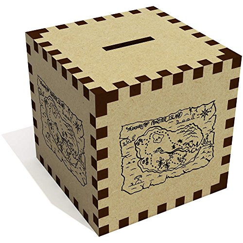 Azeeda 'Mapa Tesoro' Caja Dinero / Hucha MB00001376