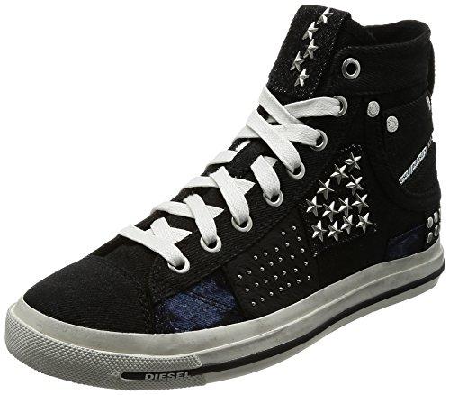 Diesel Damen Magnete Exposure IV W-Snea Y00638 Hohe Sneaker, Schwarz (Black), 37 EU (Schwarz Schuhe Diesel)