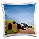 Danita Delimont - Fortifications - Maryland, Baltimore, Cannons outside Fort McHenry - US21 BBR0019 - Brent Bergherm - 16x16 inch Pillow Case (pc_90794_1)