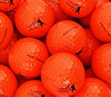 NEW OPTIC COLOURED GOLF BALLS - COLOURS YELLOW ORANGE PINK BLUE - CHOOSE YOUR COLOUR & QUANTITY (ORANGE, 24 IN)