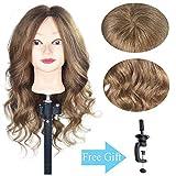 "20""-22"" Training Head 100% Real Human Hair Cosmetology Hairdressing Mannequin Manikin Doll Head"