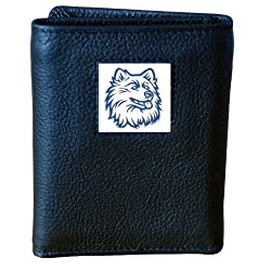UCONN Huskies Genuine Leather Tri-fold Wallet