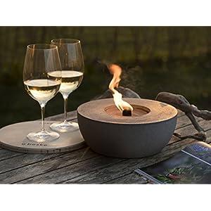 Beske-Betonfeuer mit 'Dauerdocht' | Durchmesser 24cm | Wiederbefüllbare Gartenfackel | 'Unendliche' Brenndauer durch umweltfreundliches Recycling von Kerzenwachs