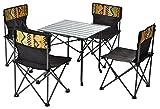FLODINGSHOW Campingmöbel SetOutdoor Camping Picknick, Barbecue, Wandern, Reisen, Angeln Picknick-Set mit 1 Tisch und 4 Stühlen