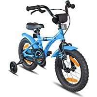 bd5816be0ce PROMETHEUS Kids bike 14 inch Boys and Girls in Blue & Black with  stabilisers | Aluminum