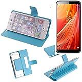 K-S-Trade Flipcover für Homtom S7 Schutz Hülle Schutzhülle Flip Cover Handy case Smartphone Handyhülle blau