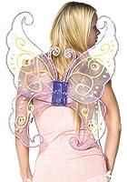 Leg Avenue - Lavendelfarbene Schmetterlingsflügel, Schmucksteinen - One Size - Blasslila - 2089