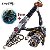 #6: 1.8 m : 1.3m-2.4m Stick Fishing Rod de Carbon Fiber Fishing Rod for Fish Olta Spinning Telescc Mini Fishing Rod Set with Reel Pole