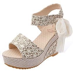 Vovotrade Dame Summer Slope mit Flip Flops Sandalen (Size:38, Weiß)