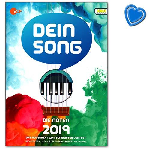 Dein Song 2019 - Die Noten mit Textbeiträgen und tollen Tipps - Songbook für Klavier, Gesang, Gitarre mit Online-Audio und herzförmiger Notenklammer