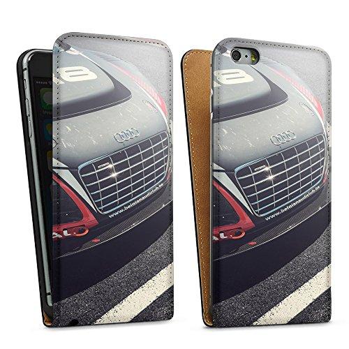 """artboxONE Handyhülle Apple iPhone 6 Plus, schwarz Downflip-Case Handyhülle """"Audi R8 LMS Case"""" - Motorsport - Smartphone Downflip Case mit Kunstdruck von Heroes & Champions Downflip Case schwarz"""