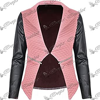 Be Jealous Ladies Quilted Pvc Waterfall New Jacket Coat