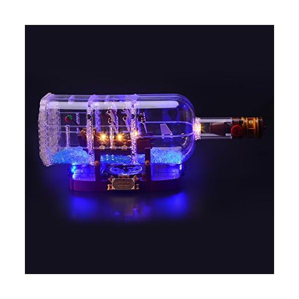 LIGHTAILING Set di Luci per (Nave in Bottiglia) Modello da Costruire - Kit Luce LED Compatibile con Lego 21313 (Non… 1 spesavip