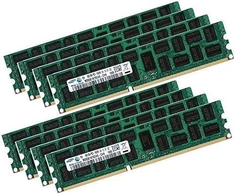 Samsung 64GB Eight-Kit 8x 8GB ECC DDR3 Dual Rank 1333 Mhz PC3-10600 240-polig DIMM für Apple Mac Pro 4,1 5,1 (2009 bis 2014) mit THERMAL SENSOR
