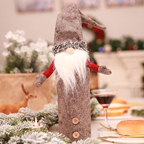 Sylvialuca 2018 decorazione natalizia babbo natale elf bottle covers festival capodanno dinner party decorazioni natalizie per la casa