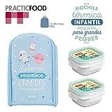 Pack Mochila Térmica Infantil Mr. Wonderful y 2 Taper Tatay OPAK Hermeticos de 0.3L, Medidas 17 x 24 x 12 cm, Modelo