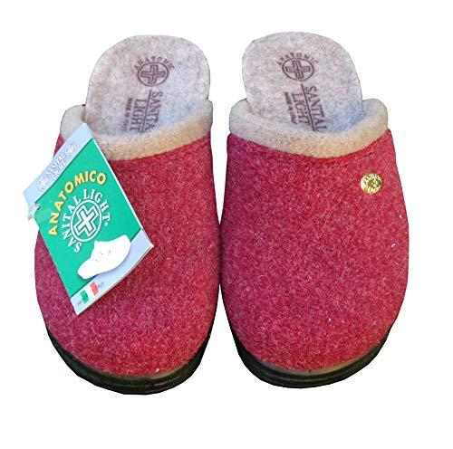 Zoom IMG-2 pantofola in lana cotta bordo