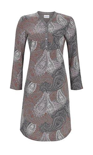 Ringella Damen Nachthemd mit Knopfleiste dunkelgrau-Melange 42 8511025, dunkelgrau-Melange, 42