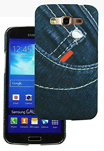 Heartly Jeans Style Printed Design High Quality Hard Bumper Back Case Cover For Samsung Galaxy Grand 2 G7102 G7106 - Small Button Pocket  available at amazon for Rs.199