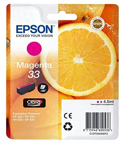 Preisvergleich Produktbild Epson T3343 Tinte, Orange, Claria Premium, Text- und Hochglanzfotodruck (Singlepack) magenta
