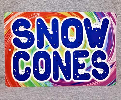 Metal Sign Snow Cones Carnival Amusement Park Fun County Fair Food Shaved Ice Vendor Truck Man Cave Aluminum - Vintage Snow Cone