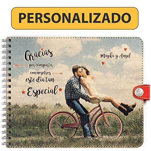 Trashy World Libro de firmas Personalizado Boda, Tu Foto en la Portada, Libro de...