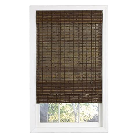 Lewis Hyman 0215508 Havana Woven Wood Bamboo Roman Shade, 70-Inch Wide by 72-Inch Long, Cocoa by Lewis Hyman