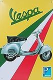 Classic Piaggio Vespa Scooter, in Latta, Stile Vintage in Metallo da Parete Ornament Decor, Dimensioni 20,3x 30,5cm