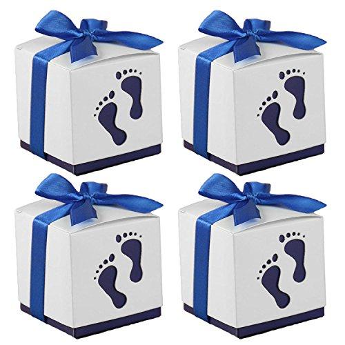 aby Fußabdruck Hochzeit Partei Candy Konfetti Geschenk Zugunsten Im Inhaber mit Multifunktionsleiste Satin Blau (Zugunsten Candy)