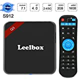 Leelbox Q3 Android 7.1 TV Box,Amlogic S912 Dual-8 Core de CPU y GPU/2GB RAM+16GB ROM Smart TV Box/Dual-WIFI de 2.4GHz y 5.8GHz/BT 4.0/1000 LAN/HD/H.265/4K(60 HZ)