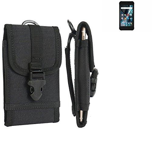 K-S-Trade Handyhülle für Archos Sense 47X Gürteltasche Handytasche Gürtel Tasche Schutzhülle Robuste Handy Schutz Hülle Tasche Outdoor schwarz