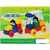 Grab Offers Kinder Blocks Car Set - Interlocking Architectural Set For Kids.(Multicolor)