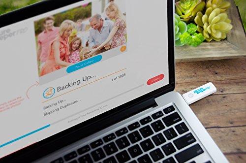 Intelligentes USB-Flash-Laufwerk 64 GB - Picture Keeper PRO Externes Sicherungsgerät für Foto- und Videodateien für PC- und MAC-Laptops und -Computer