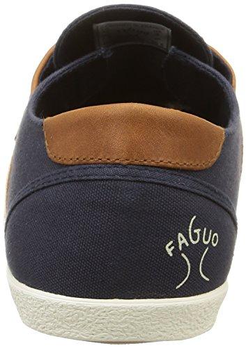 Faguo Cypress, Baskets Basses Homme Bleu (Navy/Tawny)