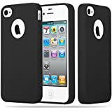 Cadorabo - Custodia Candy silicone TPU Apple iPhone 4 / 4S super sottile per - Case Cover ...