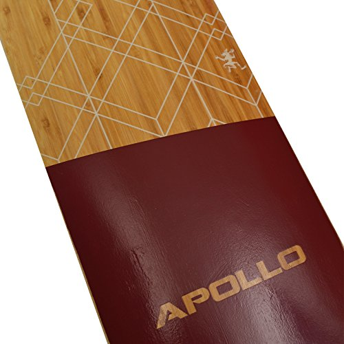 Apollo Longboard Bali Special Edition Komplettboard mit High Speed ABEC Kugellagern, Drop Through Freeride Skaten Cruiser Boards -