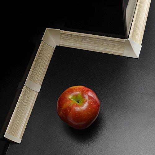 [DQ-PP] Innenecke für Winkelleisten Sanoma für Küchen 23mm x 23mm Arbeitsplatten Grundprofil Abschlussleiste Küchenabschlussleiste Tischplattenleisten