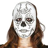 Guirca Careta Día de muertos para Halloween, color blanco, talla única (2656)