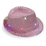 BEARCOLO Donne Uomini LED Lampeggiante Cappello da Cowboy 95b31f293883
