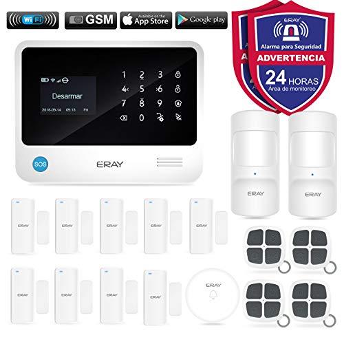 ERAY Alarmas para Casa WiFi+gsm/ 3G+GPRS, Antirrobo, Inalámbrico, Fun