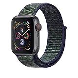 Corki per Cinturino Apple Watch 42mm 44mm, Morbido Nylon Cinturini di Ricambio per Apple iWacth Serie 4 (44mm) Serie 3/ Serie 2/ Serie 1 (42mm), Notte Boreale