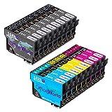 OfficeWorld 16XL Alta Capacidad Cartuchos de Tinta Compatible para Epson 16 con Epson Workforce WF-2630WF WF-2630 WF-2510 WF-2530 WF-2650 WF-2750 WF-2760 WF-2010 WF-2540 WF-2660 WF-2520,18 Multipack
