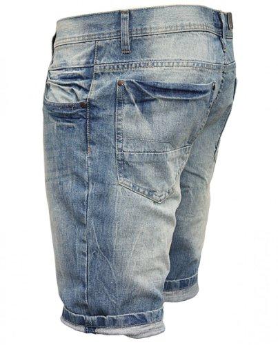 SHINE oRIGINAL short en jeans pRINCE sTREET happy bleu Bleu - Bleu
