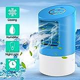 Climatiseur Portable,Mini Personnel Air Refroidisseur Humidificateur Ventilateur,4 en...