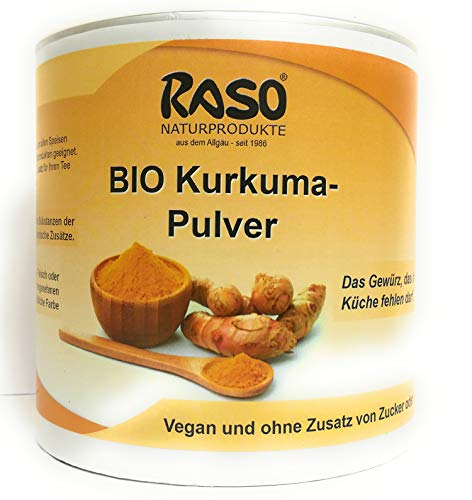Kurkuma | GRATIS VERSAND | 250g BIO Curcuma | Kurkuma Pulver | Vegan ohne Zusatz von Zucker oder Fett | Kurkuma Gewürz günstig kaufen !