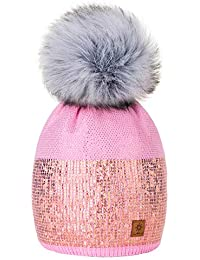 Winter Autunno Inverno Cappello Cristallo Più Grande Pelliccia Pom Pom  Invernale di lana Berretto Delle Signore 70ae7f43ed0a