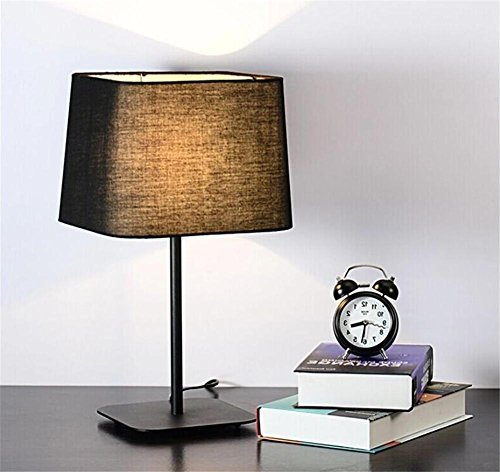 Nordic Xmas LED E27 éco-friendly moderne mode minimaliste lampe de table créative, chambre, salle à manger lumière bureau, décor du Festival. , black