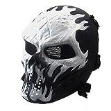 NINAT Outdoor Tactical Schädel Full Face Maske für Airsoft Paintball CS Überleben Spiele Maskerade Halloween Cosplay Umweltschutz